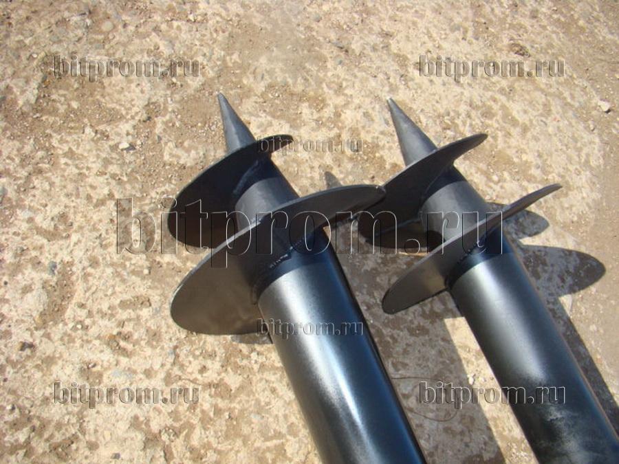 Стальные винтовые сваи для установки бытовок и блок-контейнеров