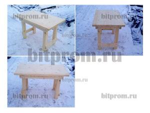 Установка деревянного стола (0,7 x 1,2 x 0,75 м)