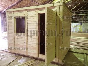 Б-01 (3м) ДВП - небольшая деревянная бытовка