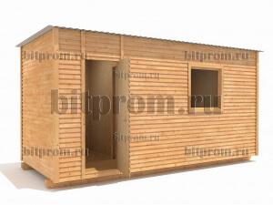 Б-01 (5м) ДВП - деревянная бытовка средних размеров