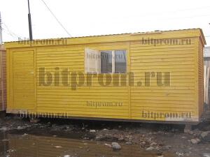 Бытовка Б-01 дачная, отделанная деревянной вагонкой