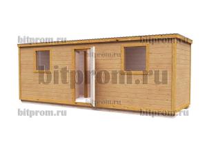 Бытовка Б-02 (7м) из деревянного бруса
