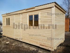 Б-02 ДВП - деревянная бытовка-распашонка с двумя окнами