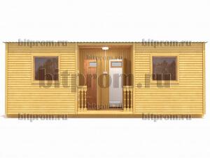 Б-06 (7м) – семиметровая дачная бытовка с крыльцом, душем и туалетом