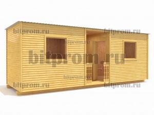 Б-09 (7м) – дачная бытовка с открытой площадкой
