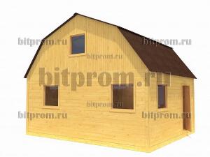 Дачный брусовой дом БД-02 (6 x 5)