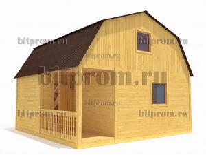 Дачный брусовой дом БД-03 (6 x 6)