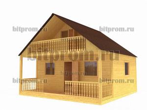 Дачный брусовой дом БД-04 (6 x 6)