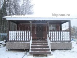 Дачный брусовой дом БД-05 с отделкой термопанелями