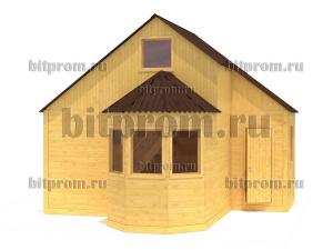 Дачный брусовой дом БД-07 (6 x 4,5)