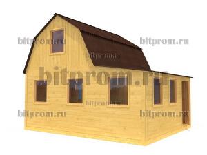 Дачный брусовой дом БД-08 (6 x 5)
