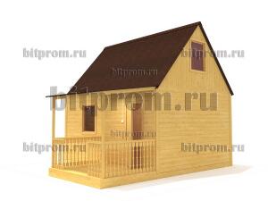 Дачный брусовой дом БД-09 (5,5 x 5)