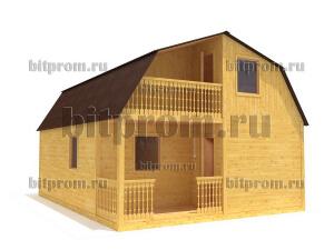 Дачный брусовой дом БД-10 (6 x 8)