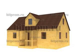Дачный брусовой дом БД-11 (6 x 9) «Терем»