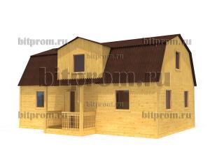 Дачный брусовой дом БД-12 (6 x 9) «Терем»