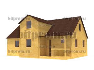 Дачный брусовой дом БД-13 (7,5 x 10,3) «Терем»