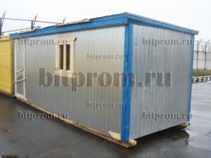 БЖ-01 ДВП - деревянная бытовка, обшитая оцинкованным профлистом