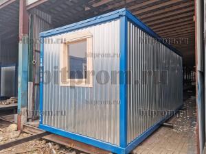 Блок-контейнер БК-00 ДВП, обшитый оцинкованным профлистом