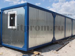 Блок-контейнер БК-01 (12м) ПВХ удлиненный