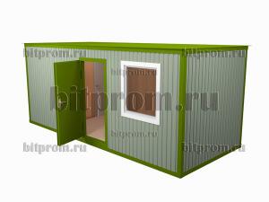 БК-037 МДФ - жилой блок-контейнер с туалетом и душем