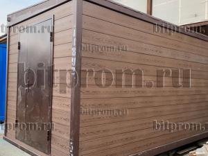 Блок-контейнер БК-049, отделанный сайдингом