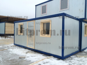 Блок-контейнер БК-04 ДВП с двумя окнами