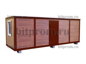 Блок-контейнер БК-103 СП (7м) из сэндвич-панелей под дерево