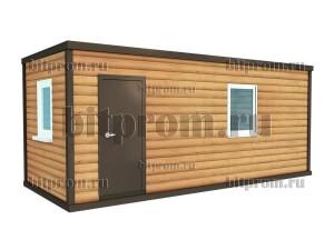 Дачный блок-контейнер БКД-01 (6м) с внешней отделкой блок-хаусом