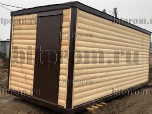 Дачный блок-контейнер БКД-03, отделанный блок-хаусом