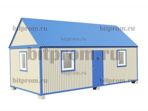 БКМД-04 (8м) ПВХ - модульный домик из профлиста с двускатной крышей