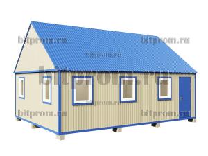 БКМД-05 (8м) ПВХ - модульный домик с двускатной крышей
