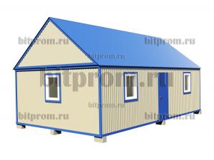 БКМД-06 (9м) ПВХ - модульный домик с двускатной крышей