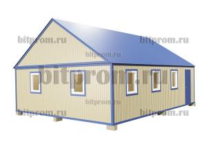 БКМД-07 (9м) ПВХ - большой модульный домик с двускатной крышей