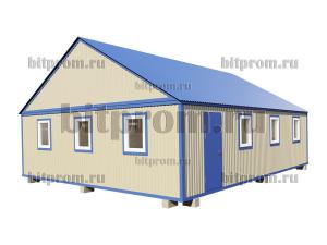 БКМД-08 (10м) ПВХ - большой модульный домик с двускатной крышей