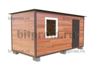 Дачный блок-контейнер БКПЛ-01 (5м) с внешней отделкой планкеном