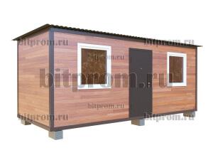 Дачный блок-контейнер БКПЛ-02 (6м) с внешней отделкой планкеном