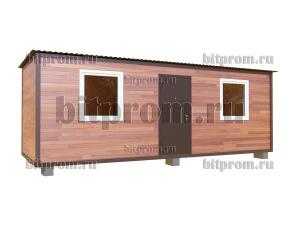 Дачный блок-контейнер БКПЛ-03 (7м) с внешней отделкой планкеном