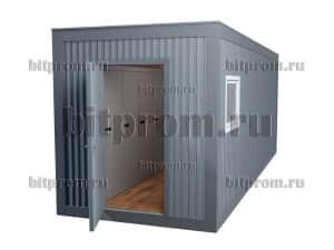 Модульная раздевалка с душевыми в блок-контейнере БКР-01 МДФ (7м)