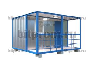 БКВ-01 (4м) ПВХ - компактный блок-контейнер с верандой