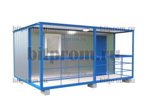 БКВ-01 (5м) ПВХ - блок-контейнер с верандой