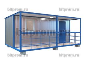 БКВ-01 (6м) ПВХ - блок-контейнер с верандой