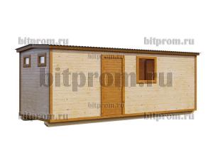 БЛ-09 (7м) - баня с туалетом и душем, отделанная вагонкой