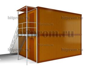 Двухэтажный блок-модуль БМ-06 СП из четырех блок-контейнеров БК-00 СП