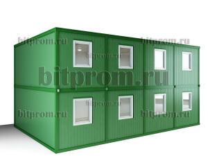 Двухэтажный блок-модуль БМ-07 СП из восьми блок-контейнеров БК-00 СП