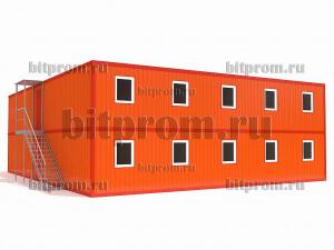 Двухэтажный блок-модуль БМ-010 СП из двадцати четырех блок-контейнеров БК-00 СП