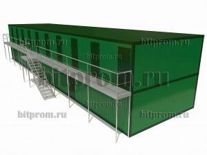 Двухэтажный блок-модуль БМ-011 СП из двадцати блок-контейнеров БК-00 СП