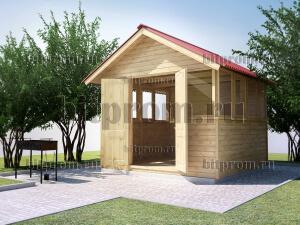 Беседка деревянная БС-05 «Застекленный домик»