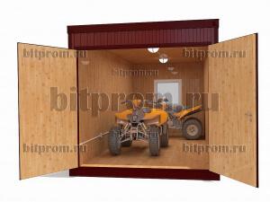Металлический гараж ГК-01 с внешней отделкой профлистом