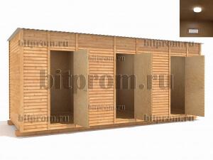 ХБ-05 (6x3) ДВП – большой трехсекционный хозяйственный блок со сборкой на дачном участке