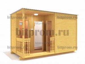 ХБ-08 (4м) – хозблок с туалетом и душем